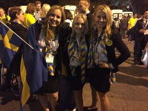 De tre medaljörerna